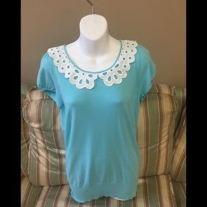 Lilly Pulitzer Shirley Blue Top.